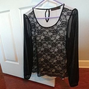Limited sheer lace blouse